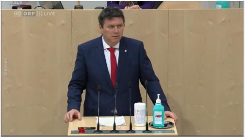 Rede von Bundesobmann Bernhard Rösch vom 21.3. im Bundesrat