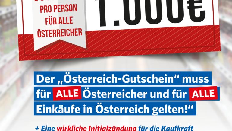 FPÖ fordert echten Impuls für Konsumenten und Wirtschaft