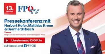 Pressekonferenz mit BPO Norbert Hofer, FW Obmann Matthias Krenn und unserem FA Obmann Bernhard Rösch