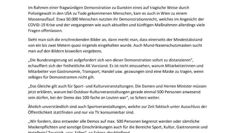 Freiheitlicher AKNÖ-Vorstand und FA-ÖGB Bundesobmann Scherz fordert sofortiges Ende der Maskenfplicht